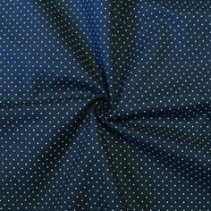 Baumwollstoff Hemden Qualität  Tupfen Mini  Farbe Marine-Blau  für Oberteil plus Rüschen