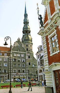 Town Hall Square & St Peters, Riga, Latvia
