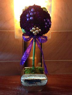 Purple carnation topiary