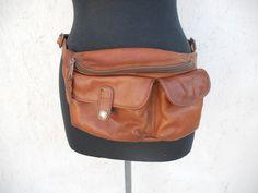 Vintage Leather Fanny Pack by Ellington by freshlavender on Etsy