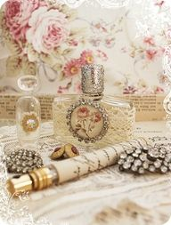 Love the pretty perfume bottles.