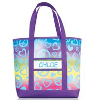 Personalized Rainbow Tote
