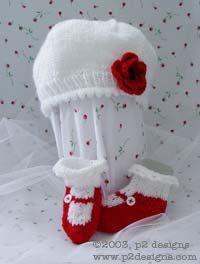Charity Pattern - Poppy Hat & MaryJane Socks (knit)