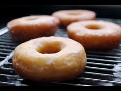 Donuts glaseados caseros (sin lactosa) - los mejores / Homemade Donuts (lactose-free) - YouTube