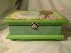 Beautifully crafted wood box.  Enchanted Giftss/Etsy.com -sold.