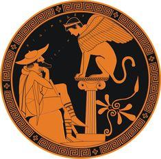 Edipo y la esfinge Pintor de Edipo, copa ática de figuras rojas, 480 a.n.e. Museos Vaticanos