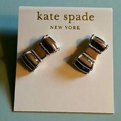 Kate Spade Earrings Beautiful silver bow studs. kate spade Jewelry Earrings