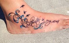 "Tattoo! ""Saltwater in my veins"" No matter where I am in the world, the ocean will always be a part of me.. It's home..  <3"