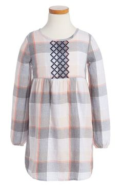 Tucker + Tate Embroidered Plaid Dress (Toddler Girls, Little Girls & Big Girls) available at #Nordstrom