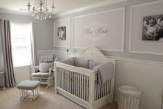 We wanted to create a classic nursery that also had a contemporary feel, and it had to be fit for a princess! We knew we wanted lavender to be a main color and decided on a soothing grey for our second color of choice. Of course every girl also needs a few pops of pink in her space! We think this is a room that can grow with our daughter.