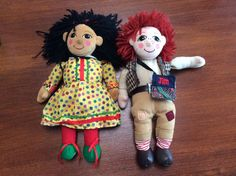 Rosie and jim soft toy figures rag dolls great condition Art Dolls, Ronald Mcdonald, Conditioner, Toys, Curtains, Ebay, Activity Toys, Blinds, Clearance Toys