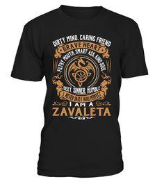 ZAVALETA Brave Heart Last Name T-Shirt #Zavaleta