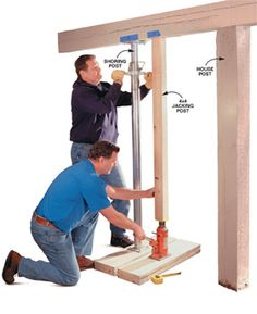 Floor sagging? Here's the solid cure for rotting posts and sinking footings.