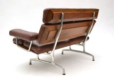 Eames Teak and Leather Sofa by Herman Miller Deco Furniture, Modern Furniture, Home Furniture, Furniture Design, Furniture Stores, Furniture Market, Plywood Furniture, Cheap Furniture, Luxury Furniture
