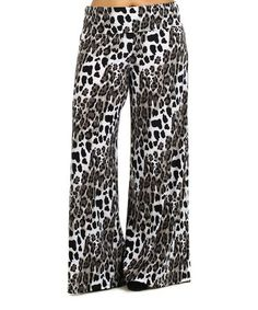 Look what I found on #zulily! Gray Leopard Palazzo Pants - Plus #zulilyfinds