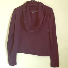 Cowl neck sweatshirt NWT Cowl neck sweatshirt, short/crop.  58% cotton 24% modal 18% polyester Xersion Tops Sweatshirts & Hoodies