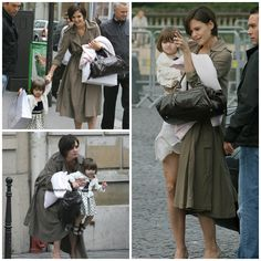 Actress - atriz - actriz - hair - cabelo - pelo - dark - escuro - oscuro - black - preto - negro - eye - olho - ojo - blue - azul - beautiful - bonita - hermoso - moda - look - style - estilo - inspiration - inspiração - inspiración - fashion - chic - elegante - elegant - princess - princesa - baby - bebê - daughter - filha - hija - mother - mãe - madre - mom - mamãe - mamá - happy family - família feliz - August - agosto - 2007 - Paris - France - Katie Holmes - Suri Cruise