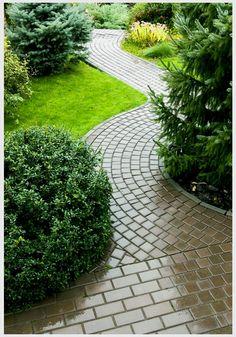 Brick, Paver & Flagstone: Walkway Designs ~ Designing Idea