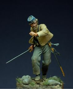 Some works of Bill Horan - Virtual Museum of Historical Miniatures Military Figures, Military Diorama, Military Art, Confederate States Of America, America Civil War, Civil War Art, Military Modelling, Virtual Museum, Army Uniform