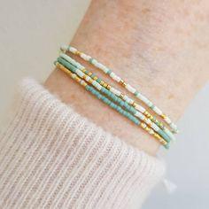 Seed Bead Bracelets Tutorials, Beaded Bracelets Tutorial, Beaded Wrap Bracelets, Beaded Bracelet Patterns, Bracelet Designs, Handmade Bracelets, Beaded Jewelry, Beaded Necklace, Stretch Bracelets