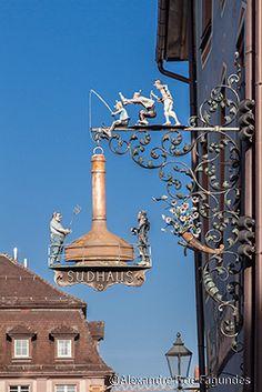 Antique Storefronts and Signs ~ Restaurant Sign in Villingen-Schwenningen, Germany