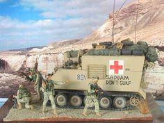 """1/35 Tamiya M113 command post """" Saddam dont Surf """". By ademodelart"""