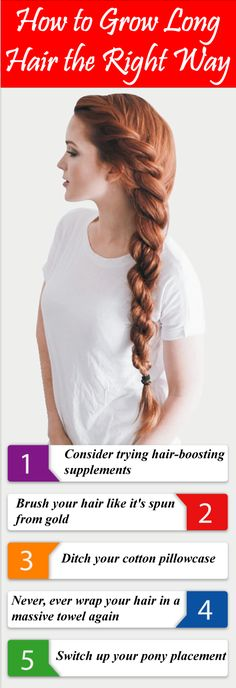 Looking for how to grow long hair the right way? These are the effective way you will know how to grow long hair the right way!
