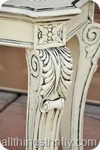 Refinishing Furniture { an intricate sofa table }