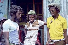 """(l-r) Leroy """"Horsemouth"""" Wallace,Trevor 'Leggo' Douglas and Gregory Isaacs in the 1978 classic reggae film """"Rockers."""""""