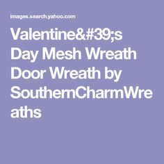 Valentine's Day Mesh Wreath Door Wreath by SouthernCharmWreaths