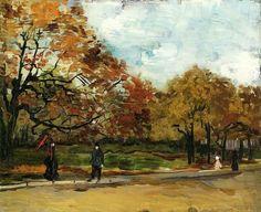 Vincent van Gogh - View of a park in Paris (1886)