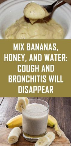 dry cough remedies: Mix Bananas, Honey, and Water: Cough and Bronchitis Will Disappear Home Remedy For Cough, Natural Cough Remedies, Cold Home Remedies, Homeopathic Remedies, Natural Cures, Cough Remedy For Toddler, Honey Cough Remedy, Cough Remedies For Kids, Honey