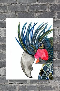 This is a print of my original watercolour painting of a Wild Parrot.  A gorgeous poster, great for injecting colour into any room. PERFECT FOR