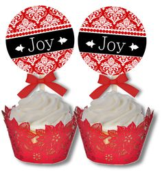 christmas cupcake toppers - free printable templates for cupcake toppers, napkin holders and other party ideas.