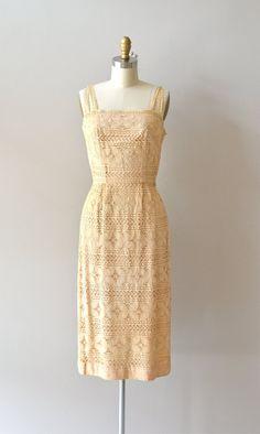 vintage 1950s dress | Linger Awhile lace dress