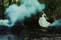 Amy Ballinger, smoke bomb, forest