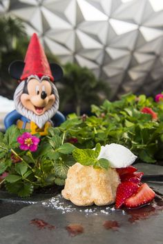 Food Cake with Florida Berries - Florida Fresh - World Showcase Promenade