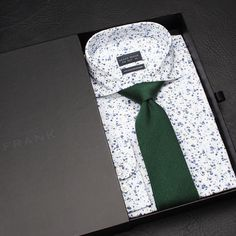Unboxing the Cardiff cutaway shirt and Pine green blend tie  What's your thoughts on this combo?    www.Grandfrank.com