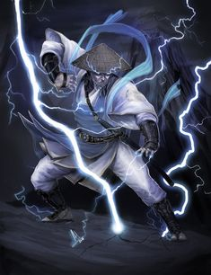 Lord Raiden aka Raijin - Mortal Kombat by molee on deviantART Raiden Mortal Kombat, Mortal Kombat Art, Fantasy Warrior, Fantasy Art, Tekken Wallpaper, Character Drawing, Character Design, Lord Raiden, Street Fighter Tekken