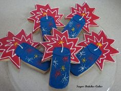 4th of July Cookies - www.facebook.com/SugarBritchesCakes.