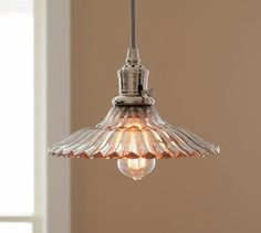 """PB Classic Pendant - Whitney   Pottery Barn $99. Only 10.5"""" diameter - would need a cluster of them"""