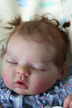 Incredababies' Pip - reborn baby doll by artist Bonnie Brown