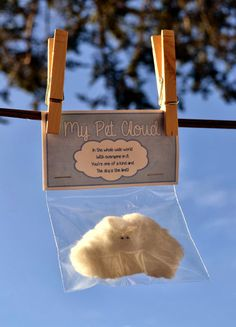 My Pet Cloud - an adorable craft for your kids to make and share! would be great for the weather unit!