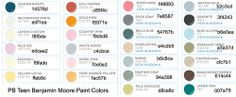 Pottery Barn Paint Colors 2013 | the simple life: PB Kids and PB Teens paint samples color chart