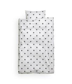 H&M Light gray & black stars duvet. Perfect for a kids room.