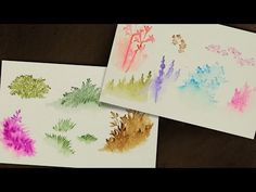 Ai Watercolor - Fall Riverbank - YouTube