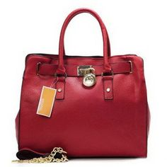 Michael Kors Hamilton Large Red Totes Outlet