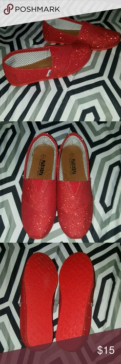 NWOT- SOS Sparkly Flats Shoes of Soul brand Sparkly flats  *Size 7 *New without box SOS Shoes Flats & Loafers