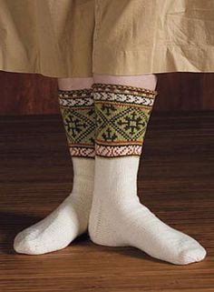 Latvian traditional knitted patterned socks #Latvia