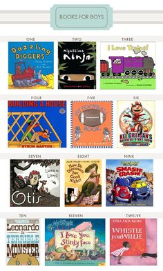 Books for Boys | Hellobee.....my son loves these books.  Most are at our local library.